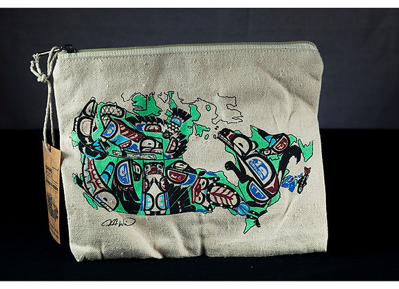 Indigenous Canada Canvas Pouch