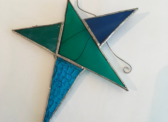 Star Stained Glass Hangers