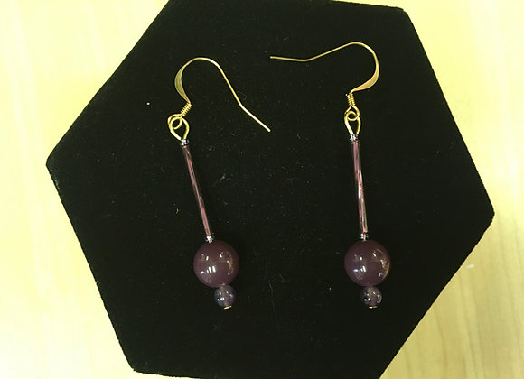 Seed Bead & Glass Earrings