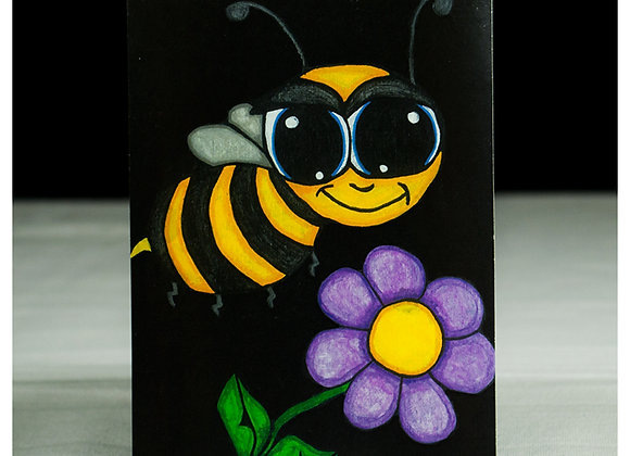 Bee and Flower Sticker