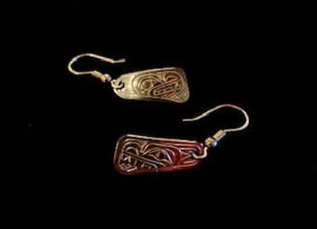 Wolf Sterling Silver Earrings