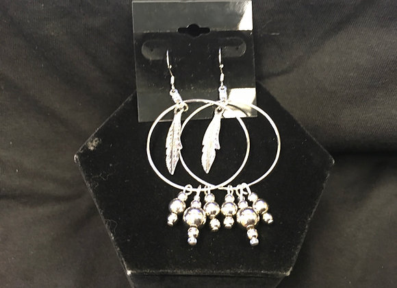 Feathered Hoop Earring