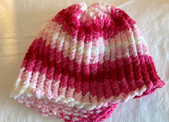 Adult Pink and White Toques