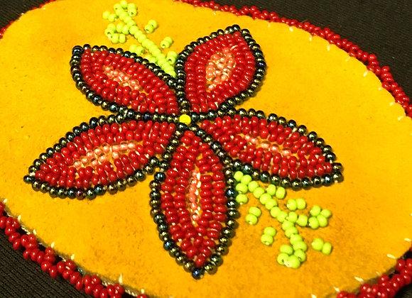 Beaded Red Flower Hair Beret