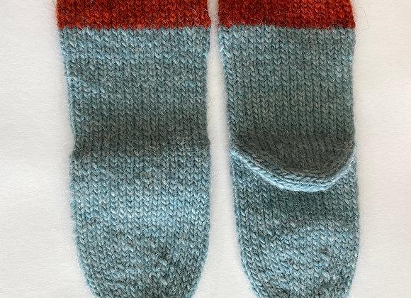 Orange and Blue Socks