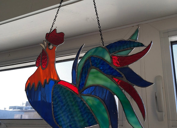 Rooster Stained Glass Hanger