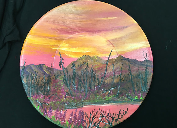 9 Inch Painted Plates