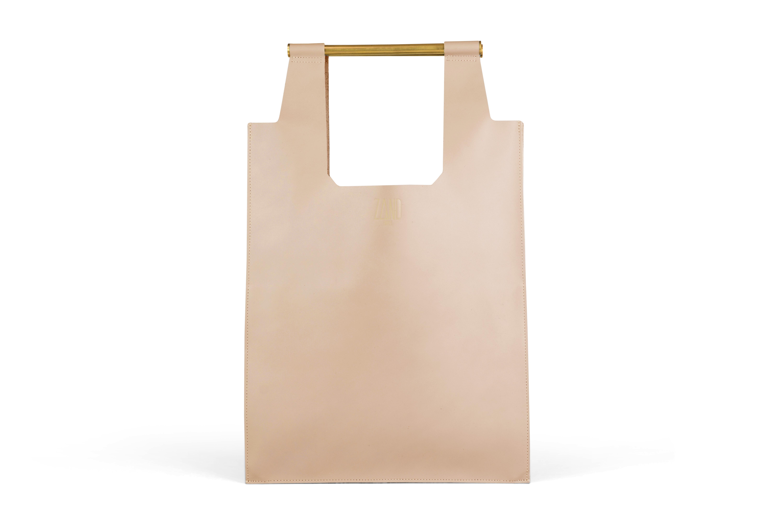 Zand erover_Shopper_Brass_nude_€249,00