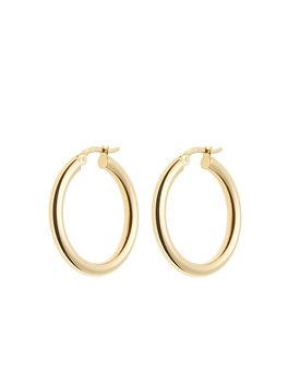 Desir_Earring Lightweighted Gold Round H
