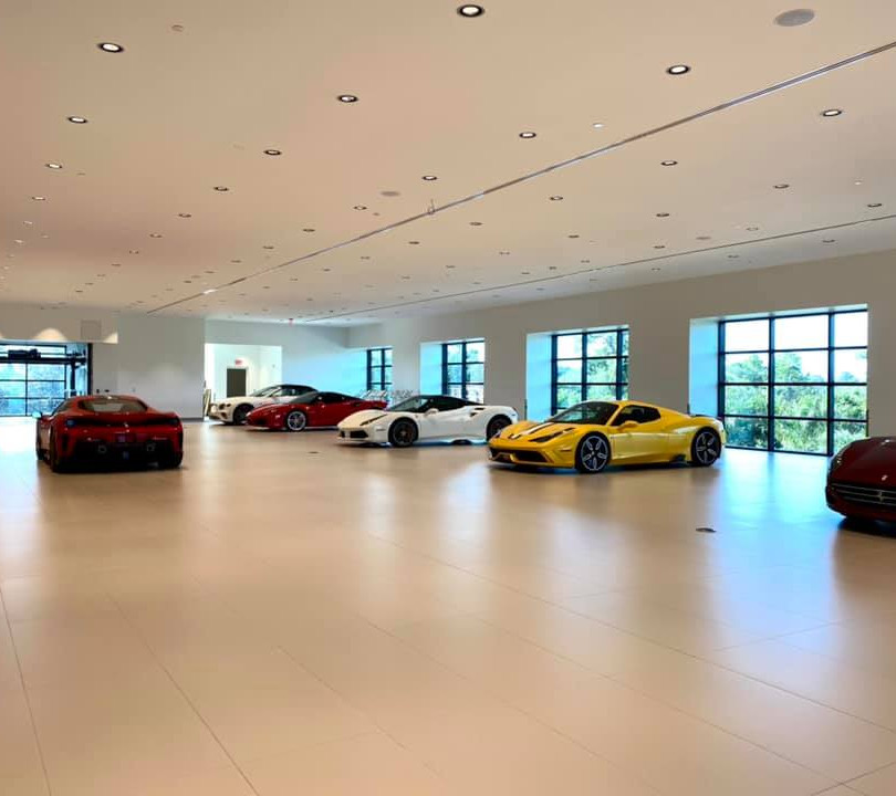 Interior Ferrarri Dealership