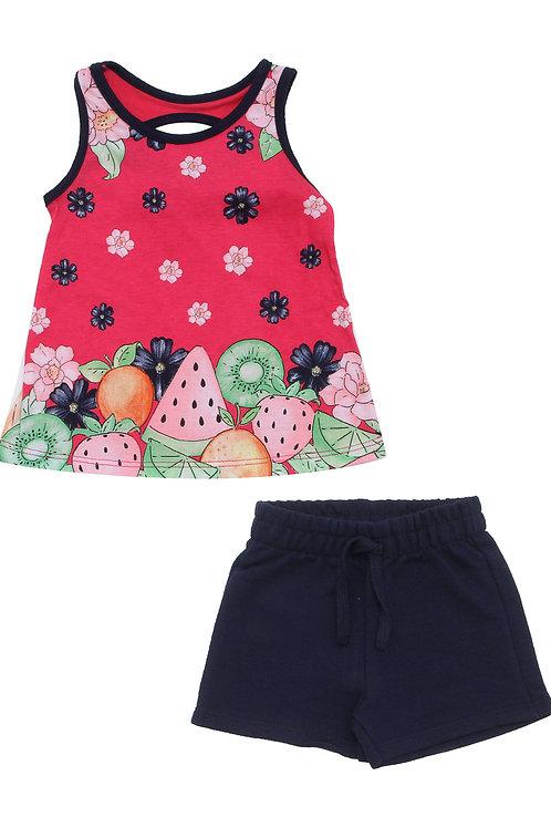 Conjunto frutas rosa KYLY (109647)