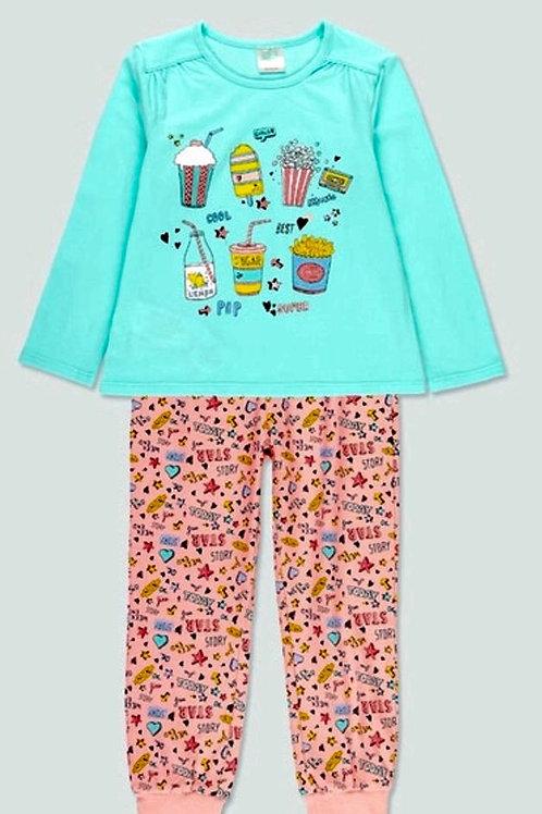 Pijama manga larga snacks niña BOBOLI (922069)