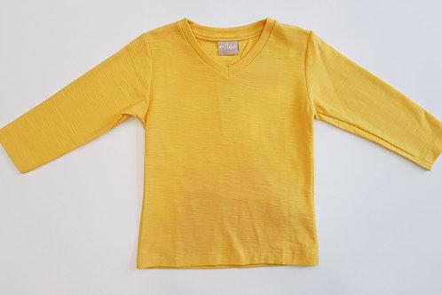 Camiseta mostaza pico (9040)