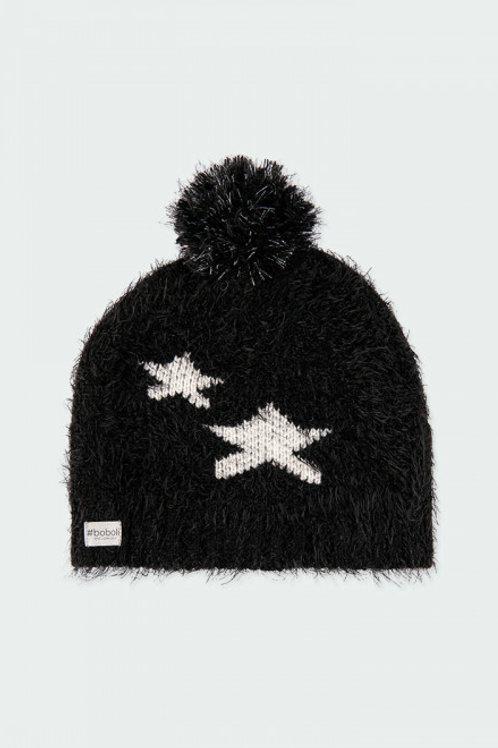 Gorro estrellas negro BOBOLI (490159)