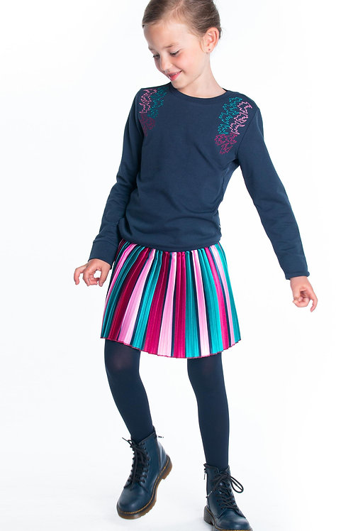 Falda plisada multicolor B.NOSY (Y008-5713_979)