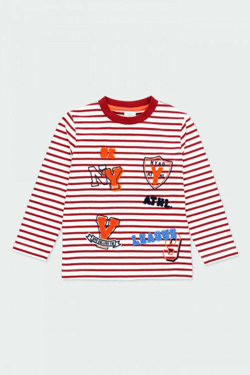 Camiseta listada bicolor (503031)