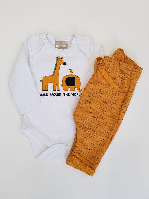 Conjunto de bebé de body y pantalon felpa de MILON (11422)