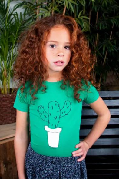 Camiseta verde cactus B.NOSY (Y103-5462)