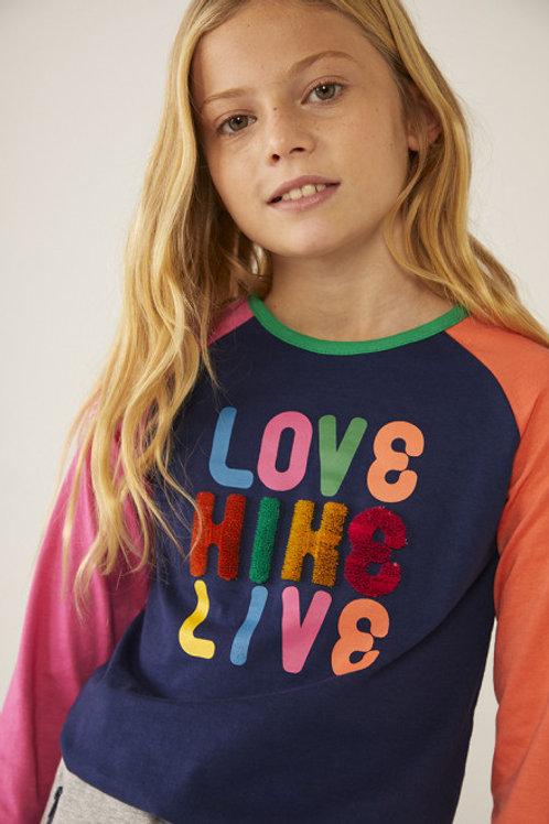 Camiseta punto letras BOBOLI (403030)