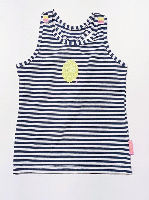 Camiseta Tiras Rayas Limón  (A003-5450)
