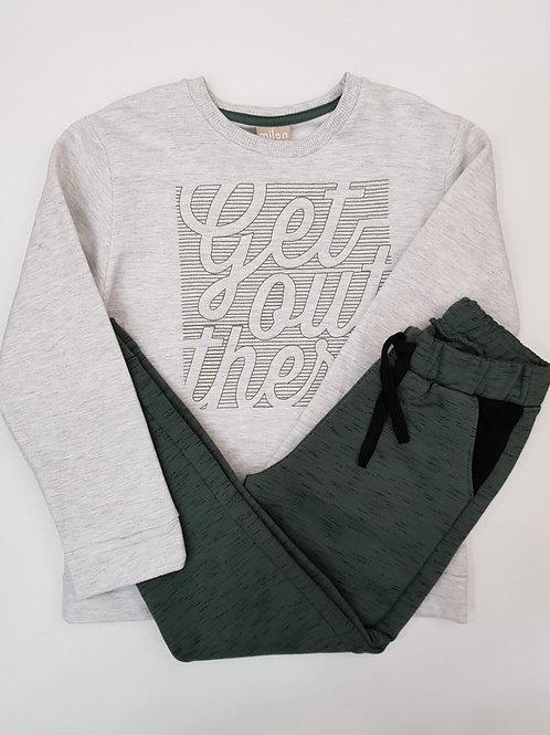 """Conjunto """"Get out there"""" verde(11474)"""