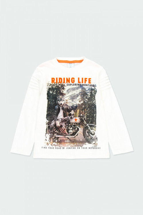 Camiseta motorcycle niño BOBOLI (523145)