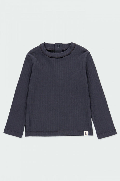Camiseta canalé antracita BOBOLI (293048)