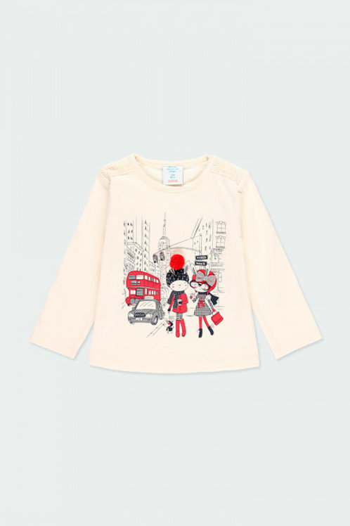 Camiseta punto tul niña BOBOLI (243010)