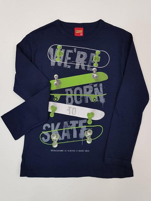 """Camiseta """"Born to Skate"""" azul(206980)"""