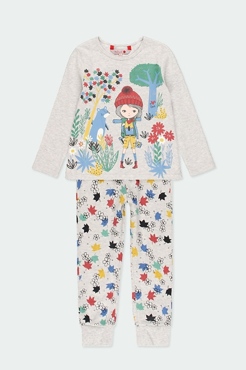 Pijama chica hojas BOBOLI (921091-7359)