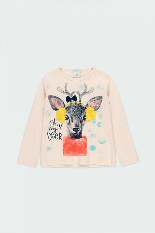 Camiseta ciervo BOBOLI (453091)