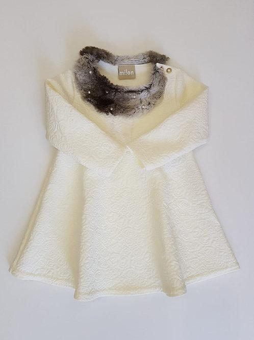 "Vestido ""Relieve"" blanco (11368)"