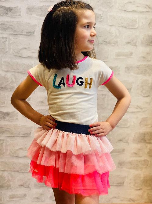 """Camiseta niña """"LAUGH"""" de  B.NOSY (Y102-5441)"""