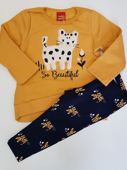 "Conjunto gatito ""So Beautiful"" (207101)"