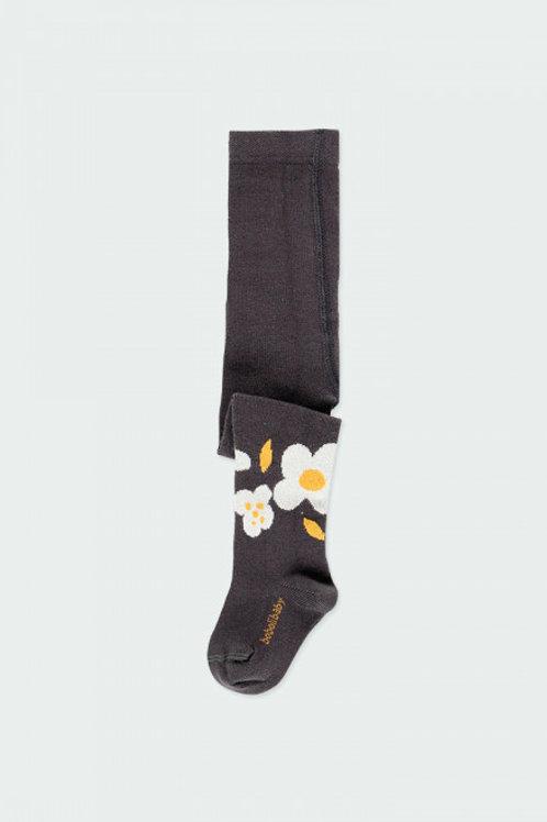 Leotardo flores antracita BOBOLI (223085)