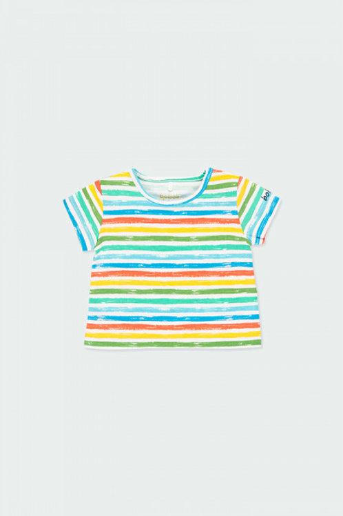 Camiseta de listas de colores de BOBOLI (132152)