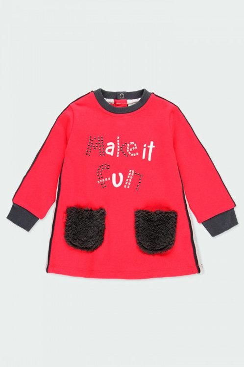 Vestido bolsillos pelo BOBOLI (243098)