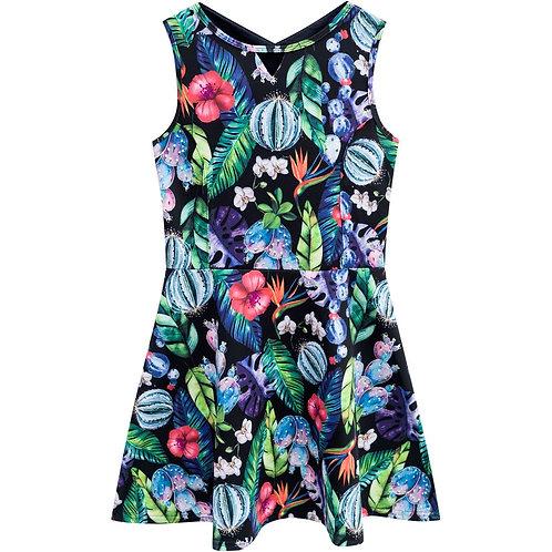 Vestido hojas AMORA (51379)