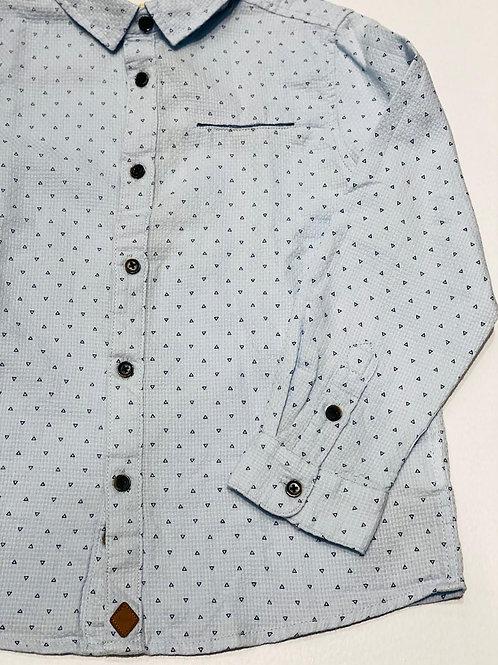 Camisa triángulos azul MILON (12235)