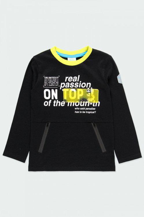 Camiseta negra bolsillos BOBOLI (513155)