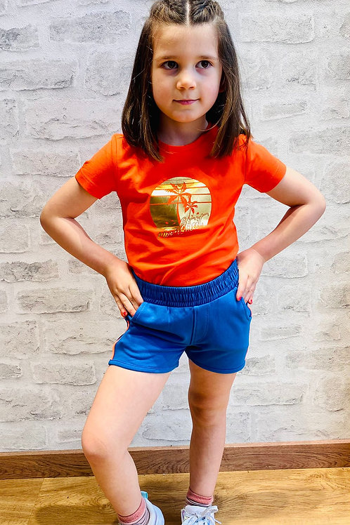 Camiseta naranja palmera de MOODSTREET (M103-5400)