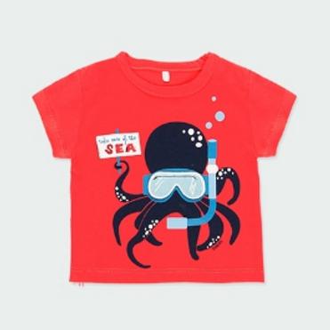 Camiseta punto pulpo BOBOLI (122195)