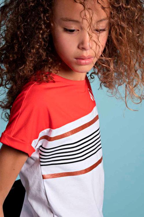 Camiseta RAYAS CASUAL (Q002-3401)