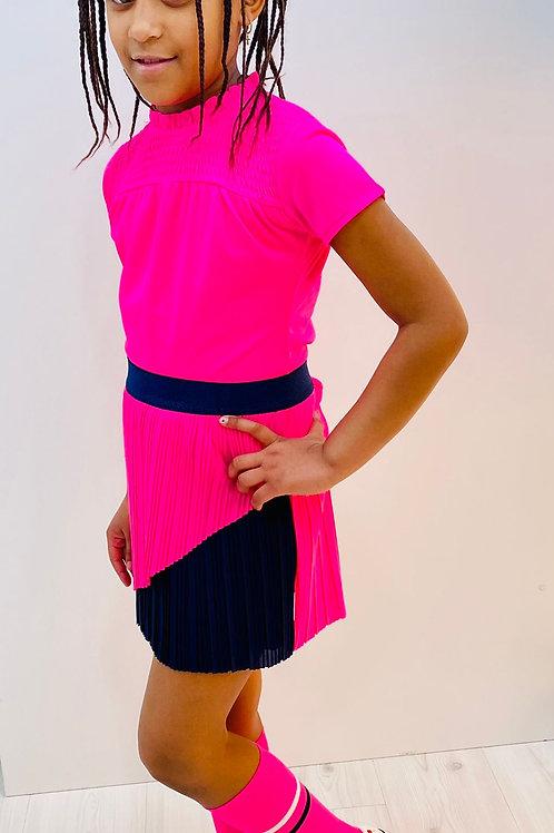 Camiseta rosa fluor de B.NOSY(Y012-5400)