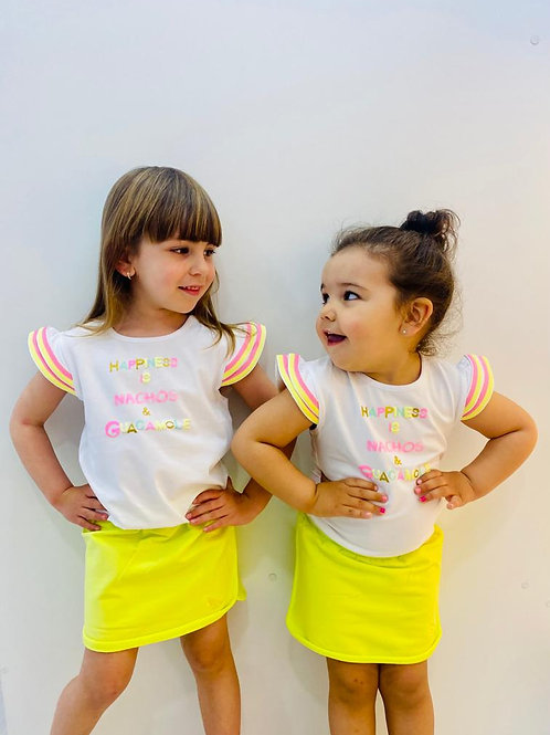 """Camiseta niña """"HAPPINES""""  de BAMPIDANO (A003-5448)"""