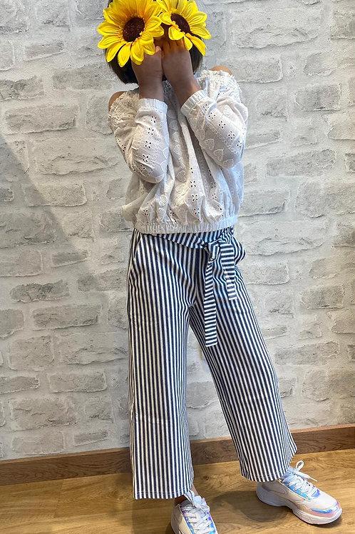 Pantalon Culotte Rayas Marineras (M012-5681)