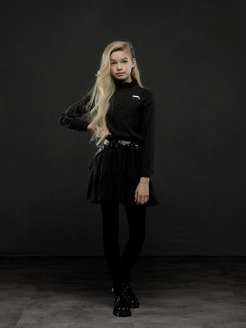 """Vestido """"Black Leopard Chic"""" (H008-3802-099)"""