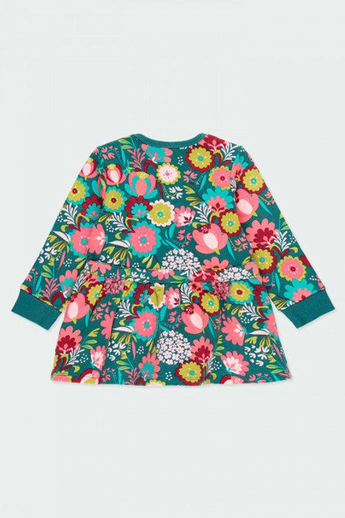 Vestido felpa flores BOBOLI (233031)