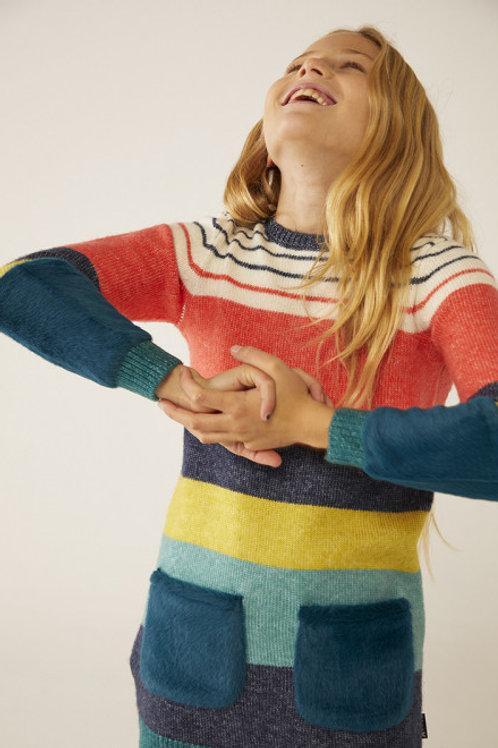 Vestido tricotosa pelo BOBOLI (453136)