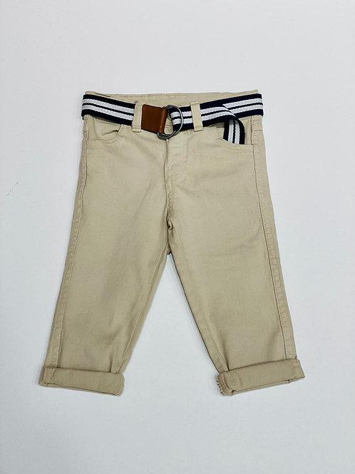 Pantalon chino beige con cinturon (11458)